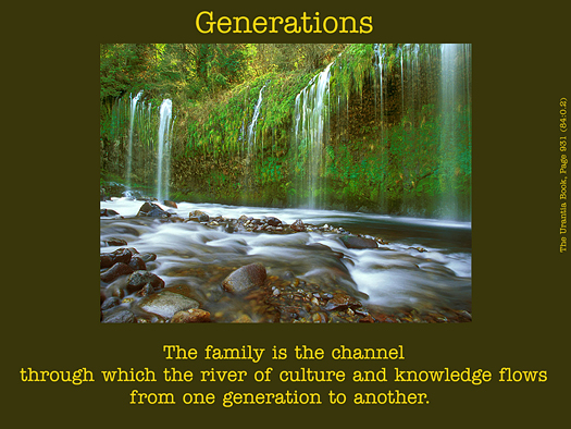 Generation - Quote of the Day - family, culture, knowledge