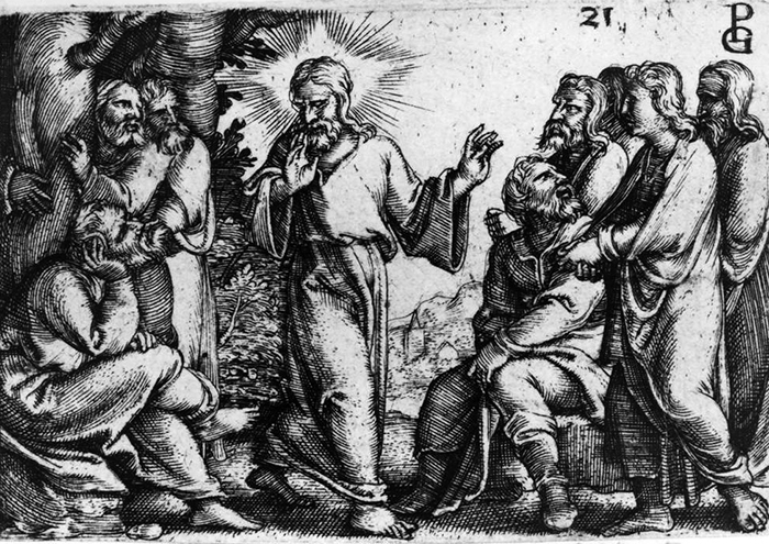 Christ Instructing His Apostles by Georg Pencz