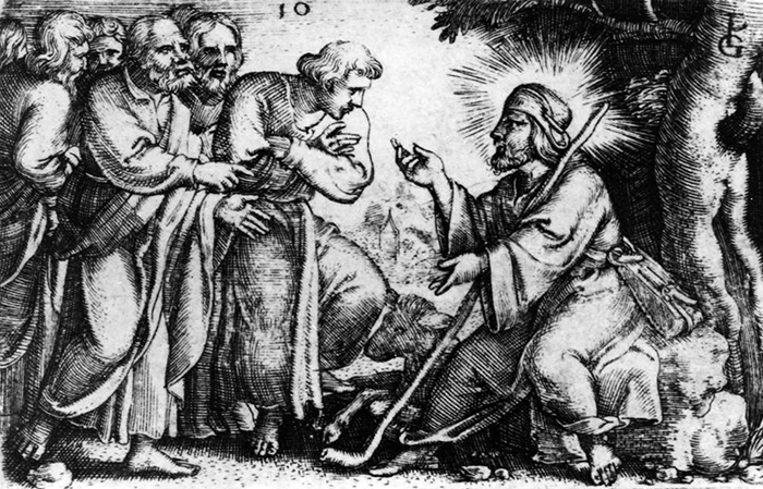 Christ Speaking to His Apostles by Georg Pencz