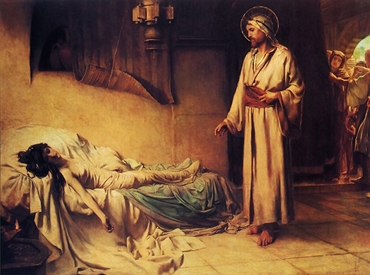 The Raising Of Jairus` Daughter (La resurrección de la hija de Jairo) by George Percy Jacomb-Hood