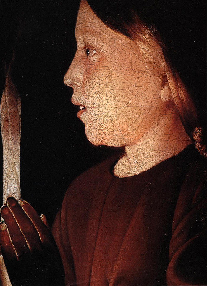 Jesus (detail) by Georges de La Tour