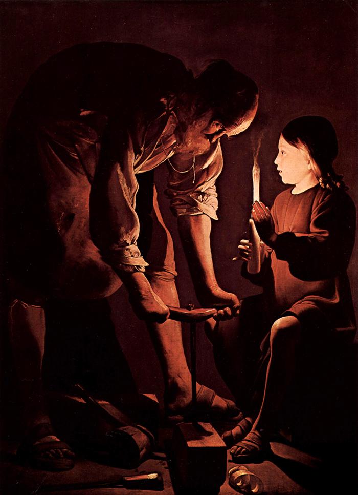St Joseph the Carpenter by Georges de La Tour