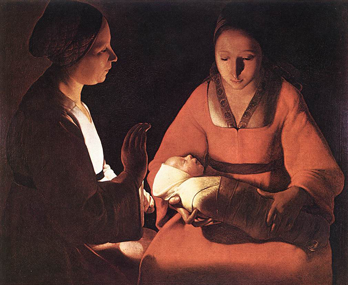 The New born by Georges de La Tour