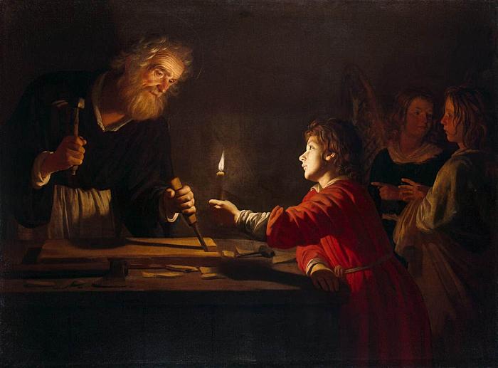 Childhood of Christ by Gerrit van Honthorst
