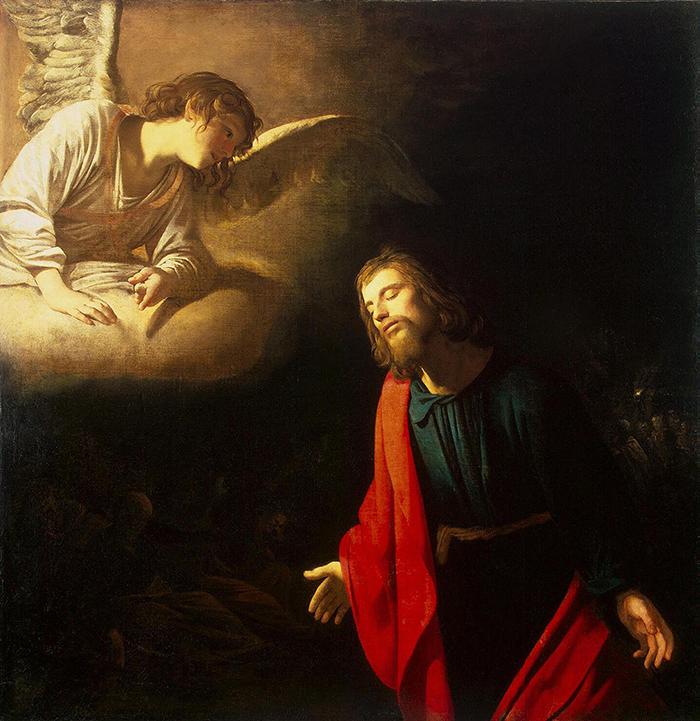 Christ in the Garden of Gethsemane by Gerrit van Honthorst