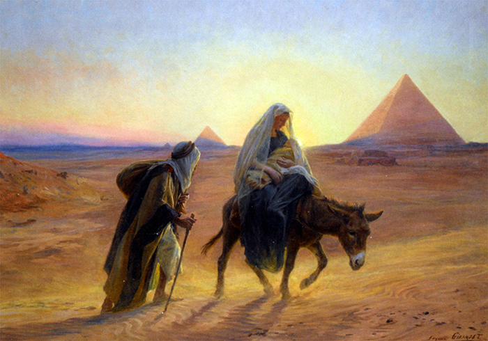 Flight Into Egypt by Girardet Eugene