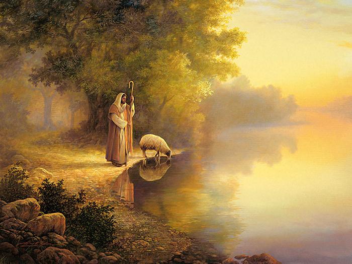 Beside Still Waters by Greg Olsen