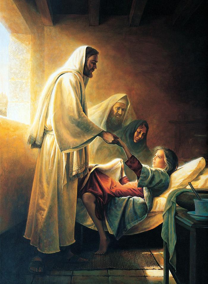 Jesus Blessing Jairus's Daughter by Greg Olsen