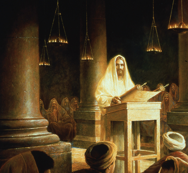 Jesus in the Synagogue by Greg Olsen