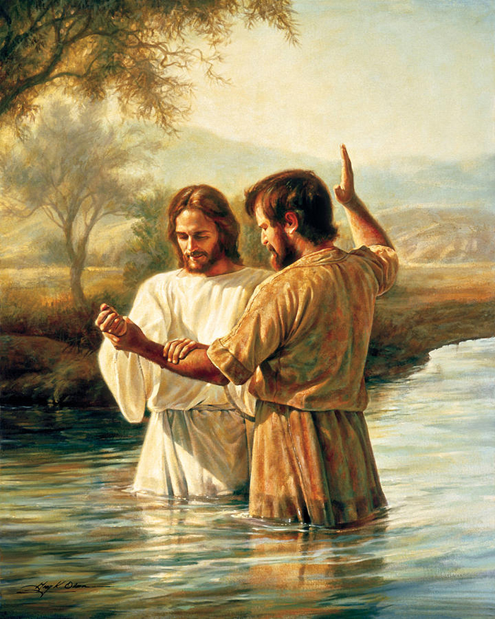 The Baptism of Christ by Greg Olsen