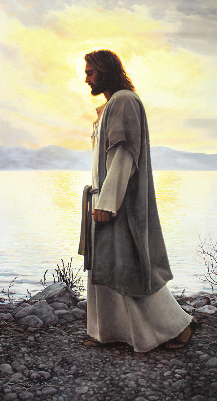 Walk with me by Greg Olsen