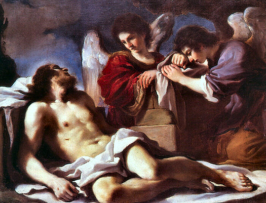 Angels Weeping Over Christ by Guercino