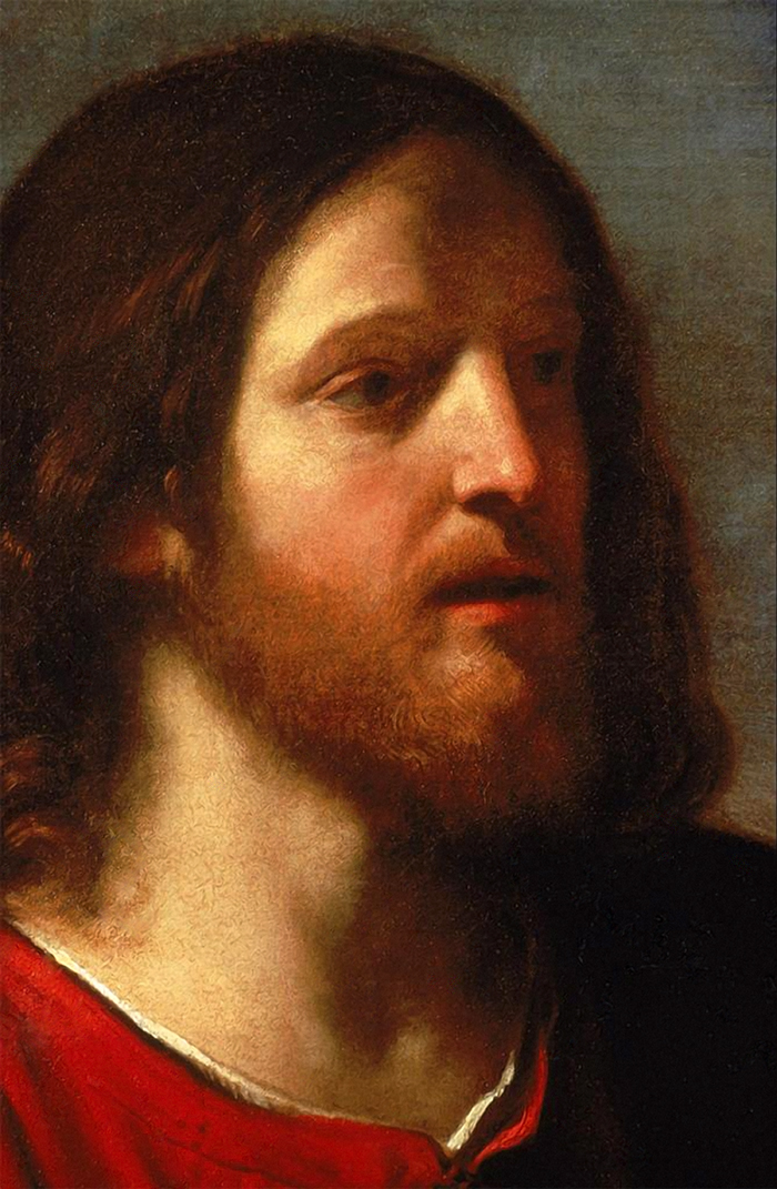 Christ and the Samaritan Woman (detail) by Guercino