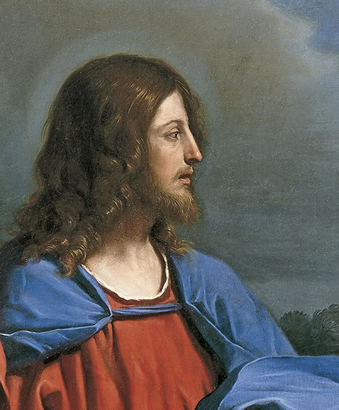 Christ and the Woman of Samaria (detail) by Guercino