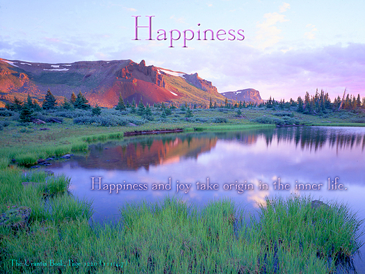 Happiness - Quote of the Day - joy, inner life