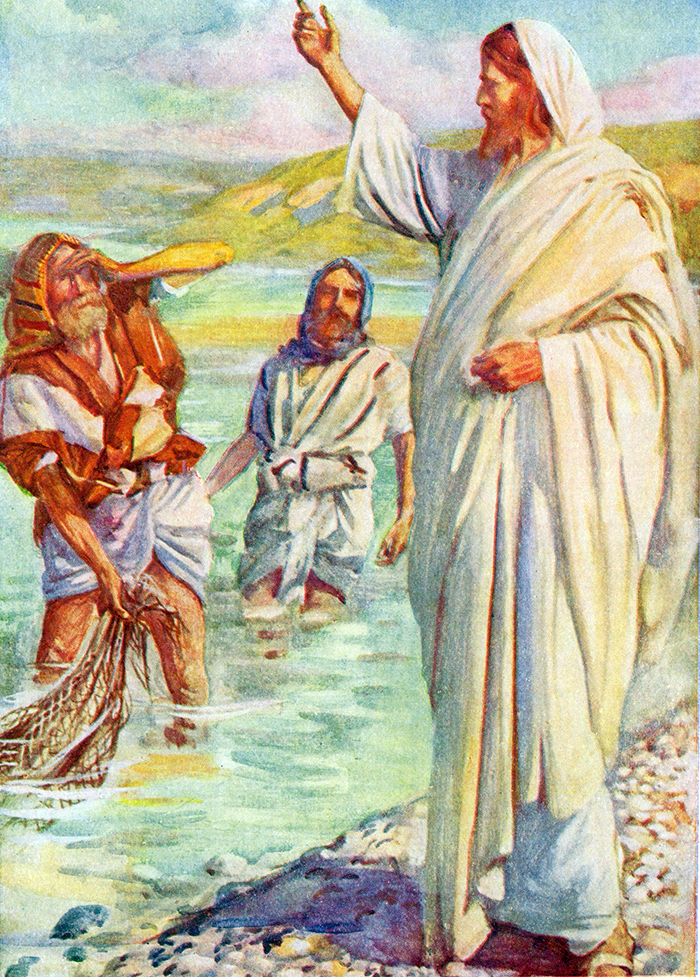 He calls Peter and Andrew by Harold Copping
