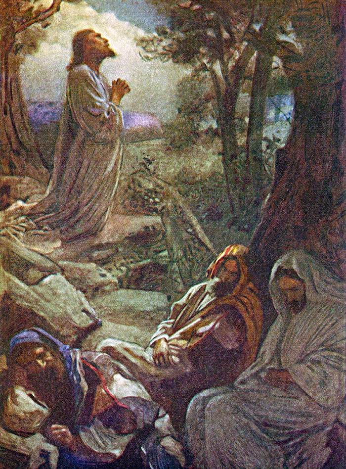 At Gethsemane by Harold Copping
