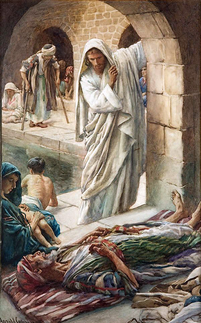 At The Pool Of Bethesda by Harold Copping