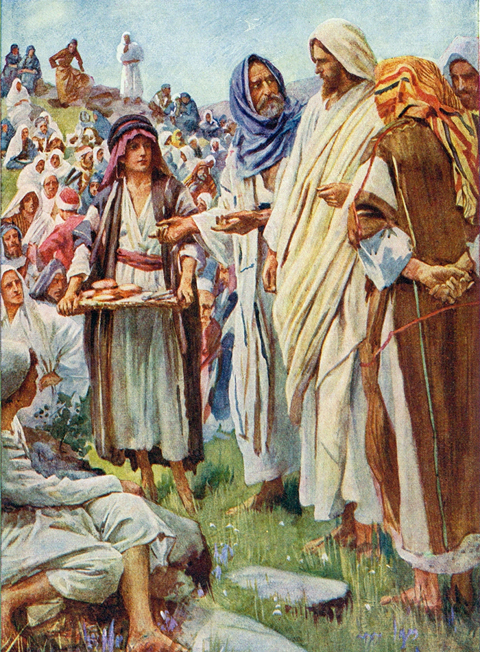 Feeding The Five Thousand by Harold Copping
