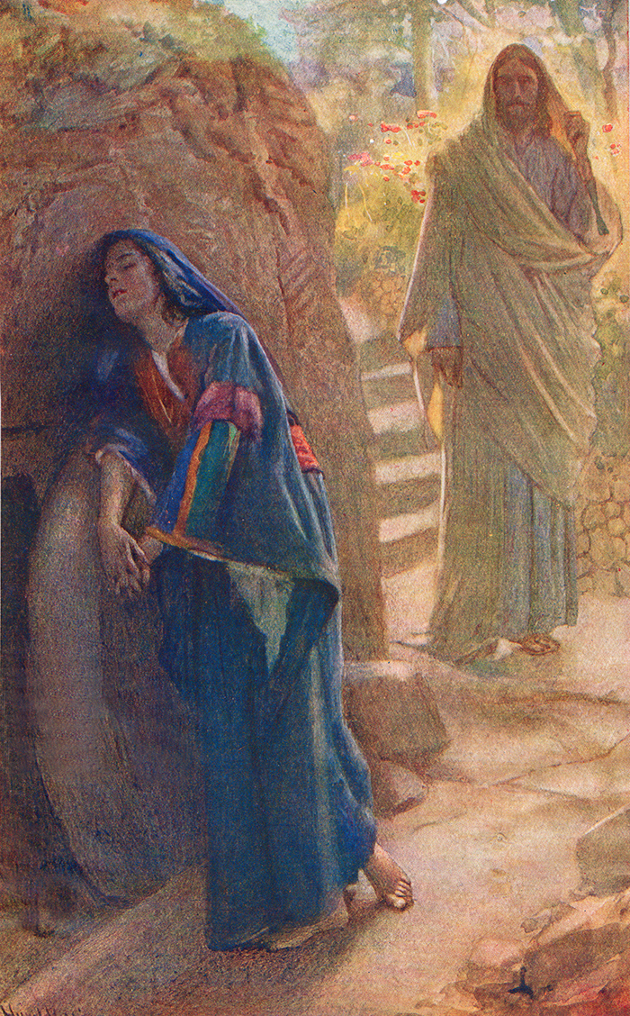 Mary Magadalene and Risen Christ by Harold Copping