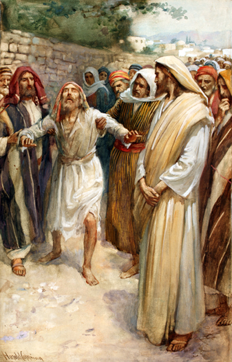 The Healing of Blind Bartimaeus by Harold Copping