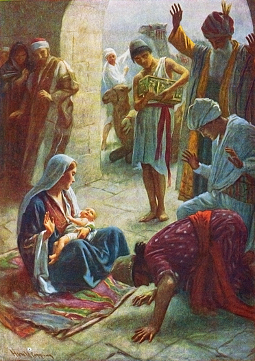 The Wise Men Visit by Harold Copping