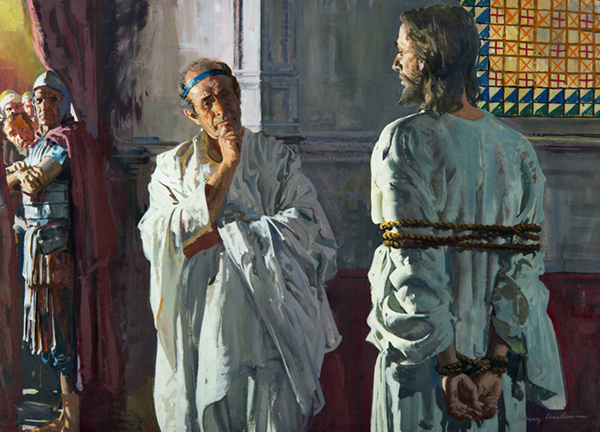 Pilate Confronts Christ by Harry Anderson