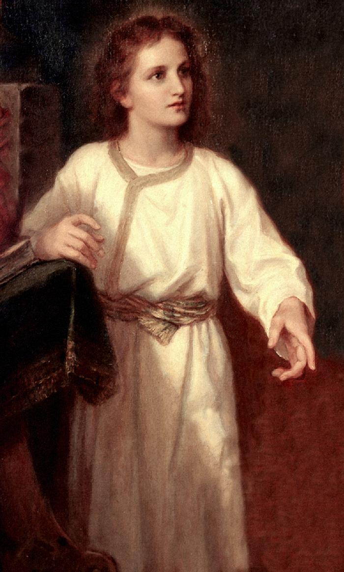 Jesus (detail) by Heinrich Hoffman