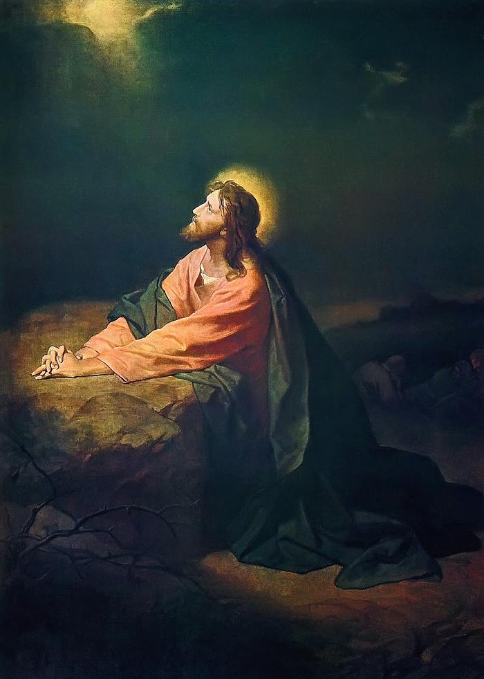 Christ in the Garden of Gethsemane by Heinrich Hofmann
