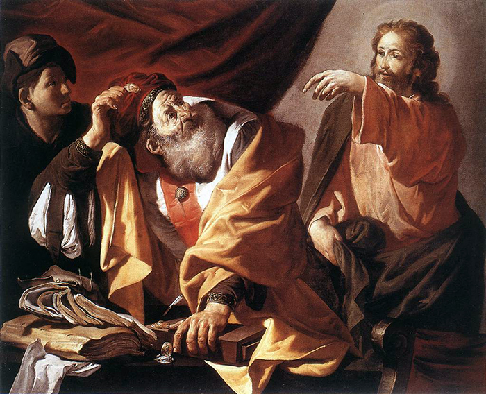 Calling of Matthew by Hendrick Terbrugghen