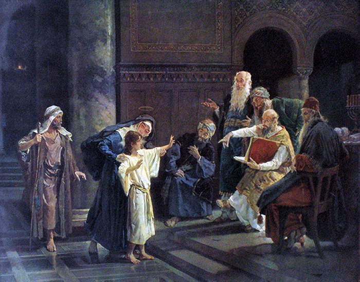 Christ and the Doctors in the Temple by Hermann Clementz