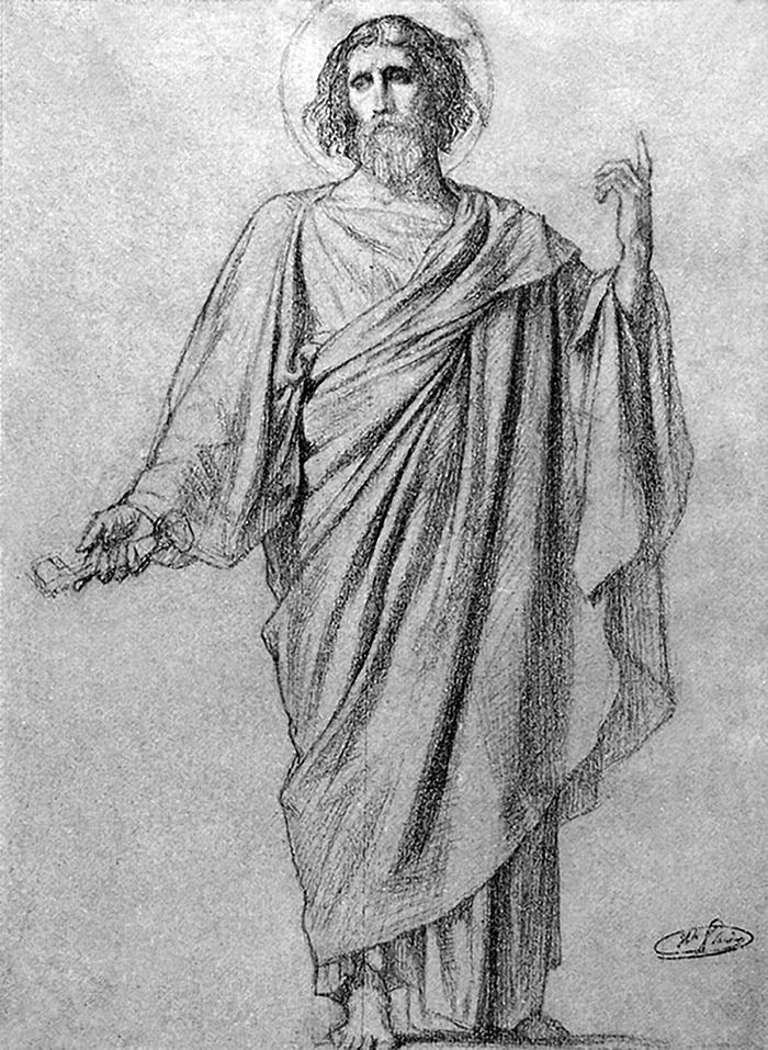 Study of Christ by Hippolyte Flandrin