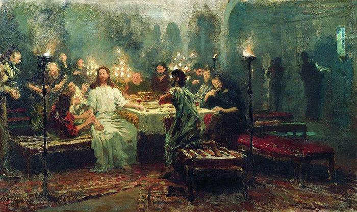 Last Supper by Ilya Repin