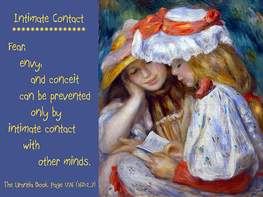 Intimate Contact - Quote of the Day - friendship, fear, envy, conceit, mind