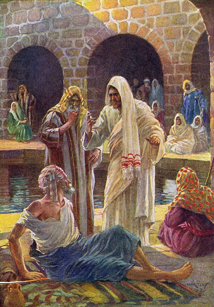 At the pool of Bethesda by J H Hartley