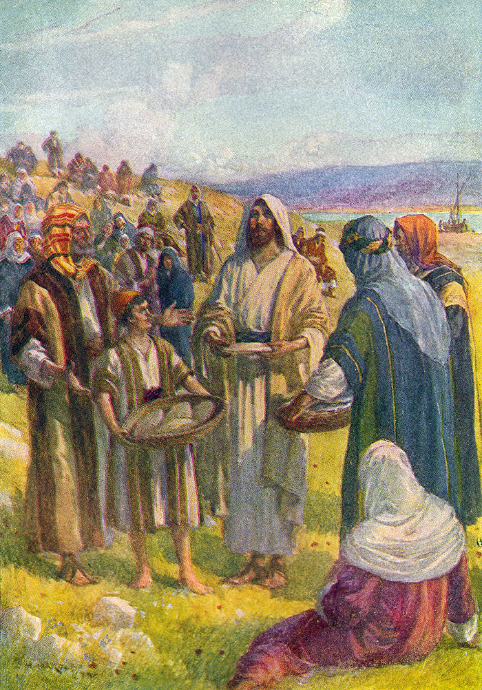 The feeding of the five thousand by J H Hartley