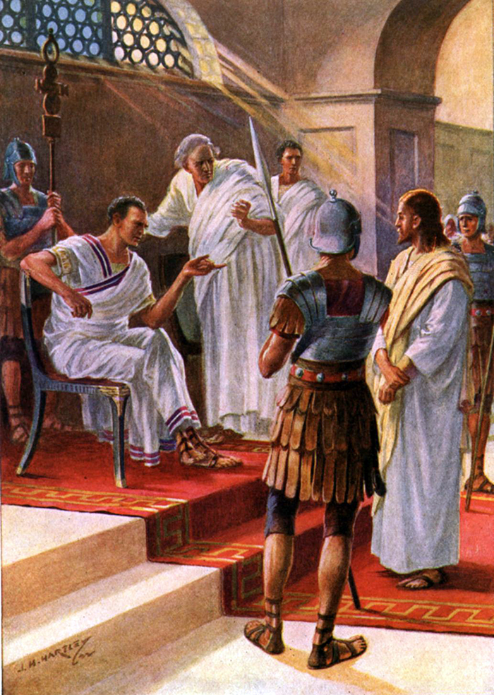 Jesus before Pilate by J H Hartley
