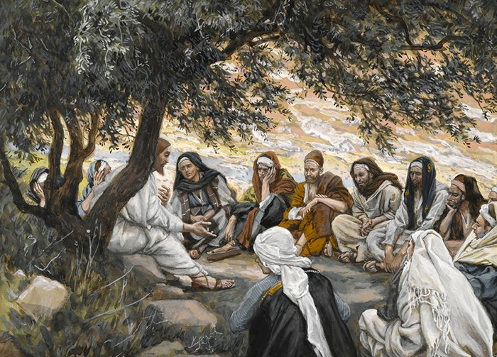 Christ's exhortation to the twelve Apostles by James Tissot