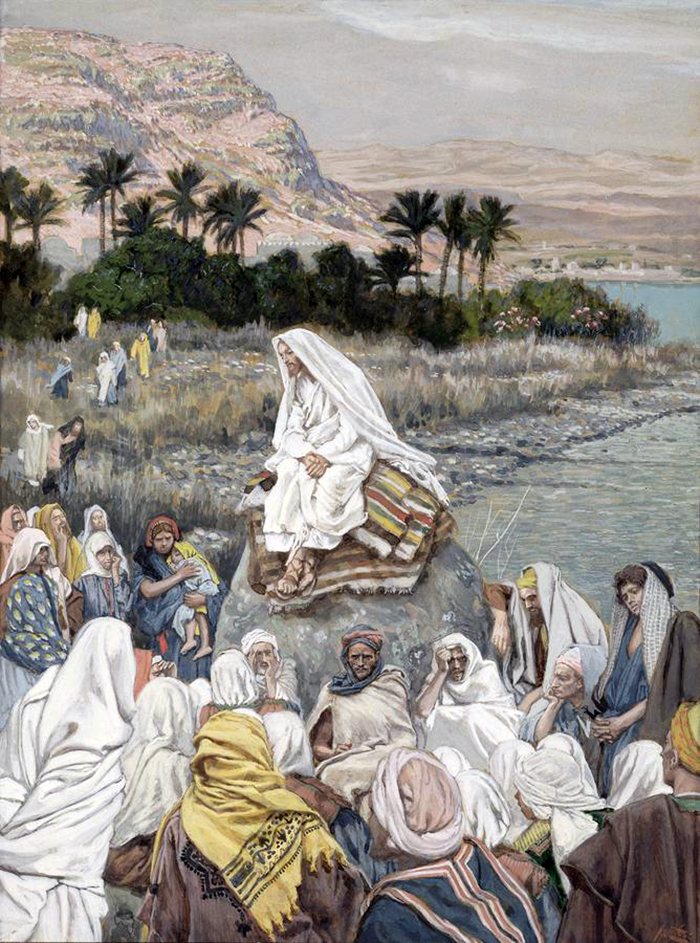 Jesus Teaching On The Seashore by James Tissot