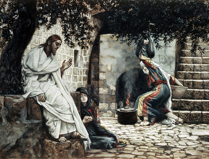 Magdalene at the Feet of Jesus by James Tissot