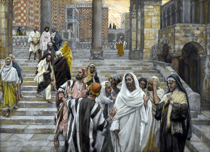 The Disciples Admire the Buildings of the Temple by James Tissot