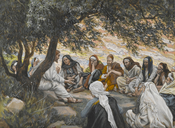 The Exhortation to the apostles  by James Tissot