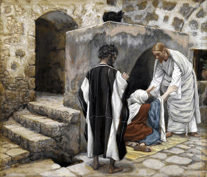 Healing of Simon's Mother in law by James Tissot