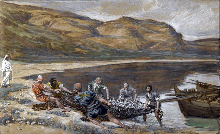 The Second Miraculous Draught Of Fishes by James Tissot