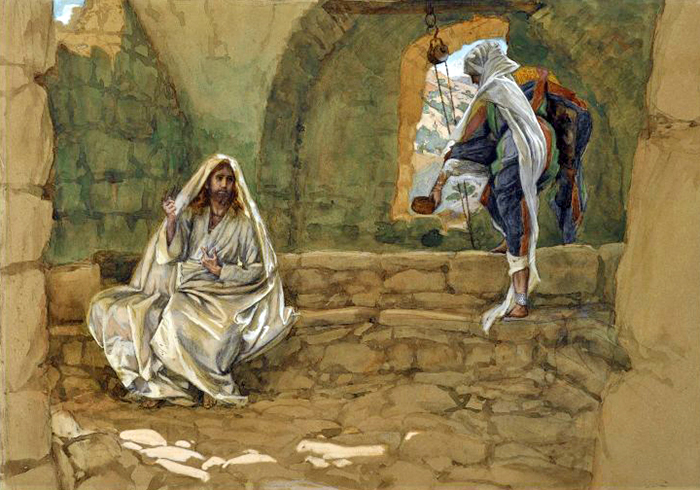 The Woman of Samaria at the Well by James Tissot