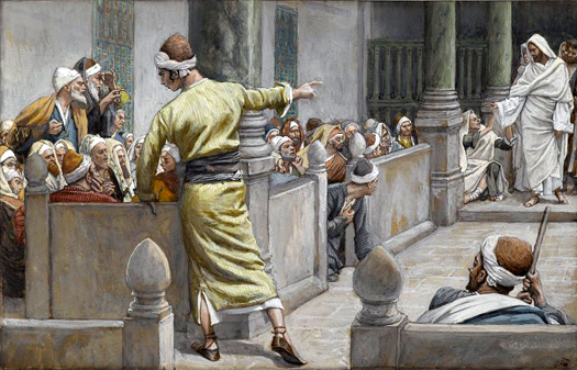 Blind Man Tells His Story to the Jews by James Tissot