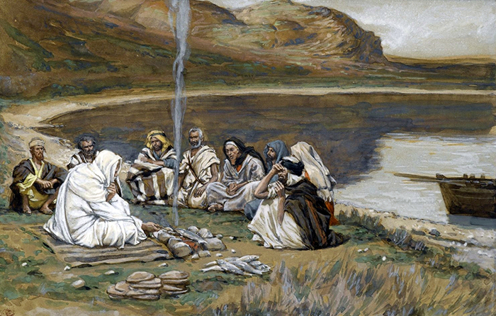 Christ Eating with his Disciples by James Tissot