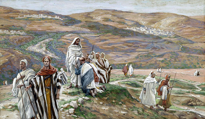 Christ sending out the seventy disciples two by two by James Tissot
