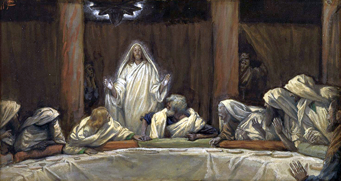 Jesus Appears In The Midst Of The Apostles by James Tissot