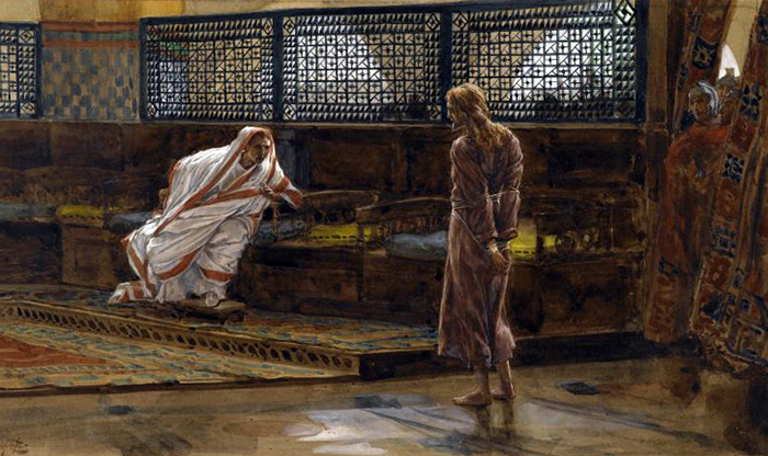 Jesus Before Pilate First Interview by James Tissot